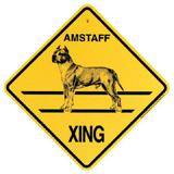 Xing Sign American Staffordshire Plastic 10.5 x 10.5 inches