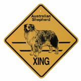 Xing Sign Australian Shepherd Plastic 10.5 x 10.5 inches