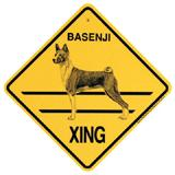 Xing Sign Basenji Plastic 10.5 x 10.5 inches