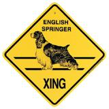 Xing Sign English Springer Plastic 10.5 x 10.5 inches