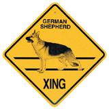 Xing Sign German Shepherd Plastic 10.5 x 10.5 inches