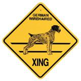 Xing Sign German Wirehaired Plastic 10.5 x 10.5 inches