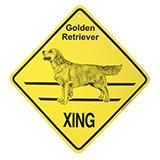 Xing Sign Golden Retriever Plastic 10.5 x 10.5 inches