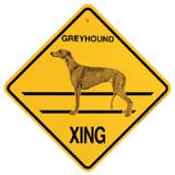 Xing Sign Greyhound Plastic 10.5 x 10.5 inches