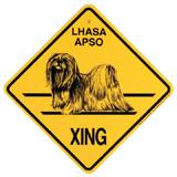 Xing Sign Lhasa Apso Plastic 10.5 x 10.5 inches