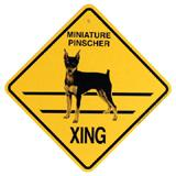 Xing Sign Minature Pinscher Plastic 10.5 x 10.5 inches title=