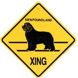 Xing Sign Newfoundland Plastic 10.5 x 10.5 inches