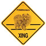 Xing Sign Pomeranian Plastic 10.5 x 10.5 inches
