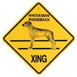 Xing Sign Rhodesian Ridgeback Plastic 10.5 x 10.5 inches