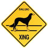 Xing Sign Saluki Plastic 10.5 x 10.5 inches