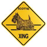 Xing Sign Scottie Plastic 10.5 x 10.5 inches