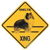 Xing Sign Sheltie Plastic 10.5 x 10.5 inches