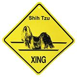 Xing Sign Shih Tzu Plastic 10.5 x 10.5 inches