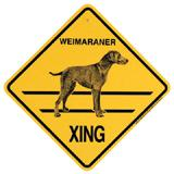 Xing Sign Weimaraner Plastic 10.5 x 10.5 inches