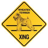 Xing Sign Wheaten Terrier Plastic 10.5 x 10.5 inches