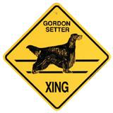 Xing Sign Gordon Setter Plastic 10.5 x 10.5 inches