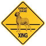 Xing Sign Great Dane Natural Plastic 10.5 x 10.5 inches