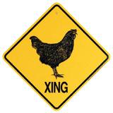 Xing Sign Chicken Plastic 10.5 x 10.5 inches