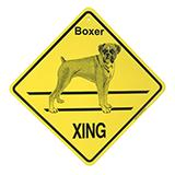 Crossing Sign Boxer Natural Xing