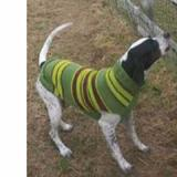 Handmade Dog Sweater Wool Green Rugby Large