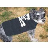 Handmade Dog Sweater Wool Skull & Crossbones Medium