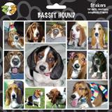Arf Art Dog Sticker Pack Basset Hound