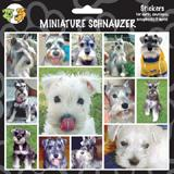 Arf Art Dog Sticker Pack Miniature Schnauzer