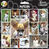Arf Art Dog Sticker Pack Papillon