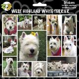 Arf Art Dog Sticker Pack West Highland White Terrier