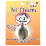 Blue St. Francis Pet Tag Collar Charm