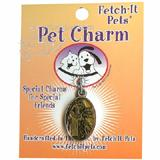 Pet Tag Collar Charm St. Francis Yellow