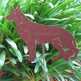 Haute Steel Garden Stake German Shepherd Dog