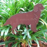 Haute Steel Garden Stake Golden Retriever