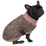 Zack & Zoey Mixed Yarn Chunky Knit Dog Sweater Medium
