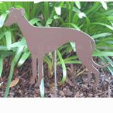 Haute Steel Garden Stake Greyhound