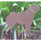 Haute Steel Garden Stake Mastiff