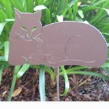 Haute Steel Garden Stake Cat-nap Kitty