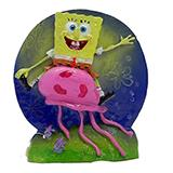Sponge Bob on Jelly Aquarium Ornament