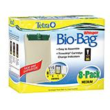 Whisper Aquarium Power Filter Bio-Bag Med. 8-pack