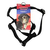 Adjustable Small Dog Harness 5/8-inch Black Nylon