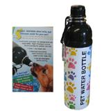 Pet Water Bottle Paws 24oz