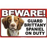 Sign Guard Brittany On Duty 8 x 4.75 inch Laminated