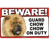 Sign Guard Chow Chow On Duty 8 x 4.75 inch Laminated