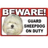 Sign Guard Sheepdog On Duty 8 x 4.75 inch Laminated