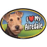 Dog Breed Image Magnet Oval Airedale