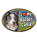 Dog Breed Image Magnet Oval Border Collie