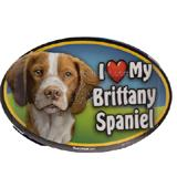 Dog Breed Image Magnet Oval Brittany