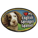 Dog Breed Image Magnet Oval Springer Spaniel