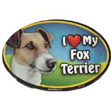 Dog Breed Image Magnet Oval Fox Terrier