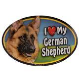 Dog Breed Image Magnet Oval German Shepherd